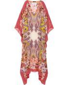 Etro Printed Silk-Chiffon Maxi Dress - Lyst