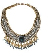 Topshop Premium Beaded Drop Collar - Lyst