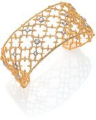 Alexis Bittar Elements Gilded Muse Crystal Small Spur Lace Cuff Bracelet - Lyst
