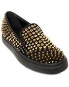 Giuseppe Zanotti Homme Studded Leather Slip On Sneakers - Lyst