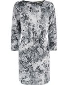 Oasis Rose Print Sweat Dress - Lyst