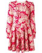 Saint Laurent Paneled Bodice Floral Dress - Lyst