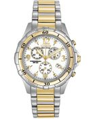 Citizen Women'S Chronograph Eco-Drive Two-Tone Stainless Steel Bracelet Watch 40Mm Fb1354-57A - A Macy'S Exclusive - Lyst
