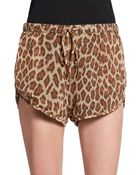 Rory Beca Leopard-Print Shorts - Lyst