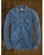 Denim & Supply Ralph Lauren Chambray Utility Shirt - Lyst
