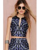 Nasty Gal With The Bandana Neoprene Crop Top - Lyst