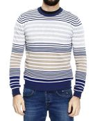 Etro Sweater Knit Crew-Neck Cotton And Cachemire Bands - Lyst
