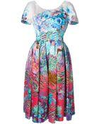 Mary Katrantzou Silera Floral-Print Dress - Lyst