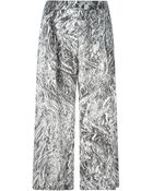 McQ by Alexander McQueen Silver Foil Print Culottes - Lyst