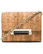 Diane von Furstenberg Micro Mini Metallic Cork Crossbody - Lyst