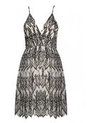Alice + Olivia Cara Flared Dress With Underskirt - Lyst