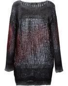 Avant Toi Fishnet Knit Sweater - Lyst