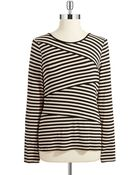 Vince Camuto Striped Long Sleeve Shirt - Lyst