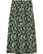 Marni Pleated Floral-Print Silk Midi Skirt - Lyst