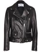 Acne Studios Mock Leather Jacket - Lyst
