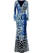 Roberto Cavalli Long Dress - Lyst