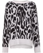 Baja East Leopard Crewneck Sweater - Lyst