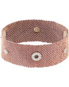 Carolina Bucci Diamond, Silk & Rose-Gold Bracelet - Lyst