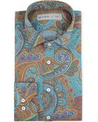Etro Paisley-print Regular-fit Single-cuff Shirt - Lyst