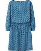 Uniqlo Women Rayon 3/4 Sleeve Dress - Lyst