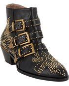 Chloé Suzanna Studded Ankle Boots - Lyst