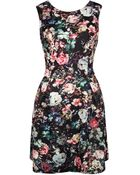 Dex Floral Print Dress - Lyst