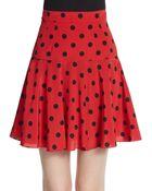 Dolce & Gabbana Polka Dot Silk Mini Skirt - Lyst