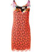 Christopher Kane Neon Guipure Lace Mini Dress - Lyst
