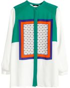 H&M Patterned Blouse - Lyst