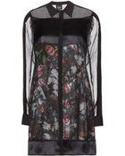 McQ by Alexander McQueen Layered Silk Dress - Lyst