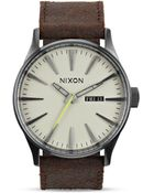 Nixon The Sentry Leather Watch 42mm - Lyst