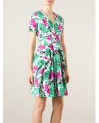 Antonio Marras Floral Print Pleated Dress - Lyst