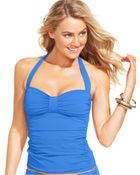 Tommy Bahama Ruched Halter Tankini Top - Lyst