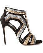 Casadei 'Evening' Crystal Embellished Sandals - Lyst