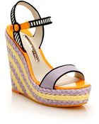 Sophia Webster Lucita Striped Espadrille Wedge Sandals - Lyst