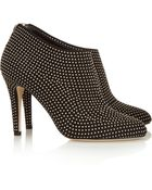 Jimmy Choo Mendez Studded Suede Ankle Boots - Lyst