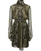 J. Mendel Baroque Embroidered Long Sleeve Pleated Dress - Lyst