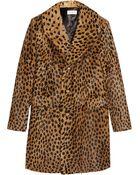 Saint Laurent Leopard-Print Goat Hair Coat - Lyst