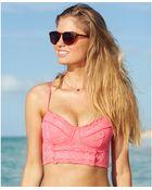 Becca Crochet Underwire Bustier Bikini Top - Lyst