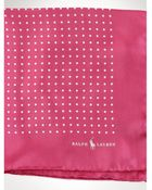 Polo Ralph Lauren Polka-Dot Silk Pocket Square - Lyst