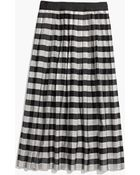 Madewell Gingham Midi Skirt - Lyst