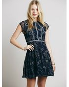 Free People Laurel Lace Dress - Lyst
