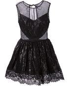 Maria Lucia Hohan Flared Lace Mini-Dress - Lyst
