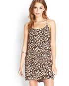 Forever 21 Leopard Print Cami Dress - Lyst
