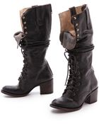 Freebird by Steven Granny Tall Combat Boots - Brown - Lyst