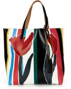 Marni Printed Pvc And Leather Tote - Lyst