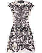Alexander McQueen Intarsia Silk-blend Dress - Lyst