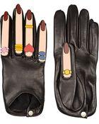 Yazbukey X Causse Gantier + Plexiglas®-Embellished Leather Gloves - Lyst