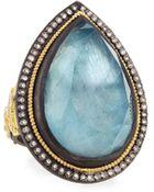 Armenta Labradorite Pear Ring With Diamonds - Lyst