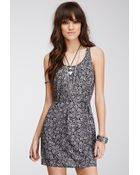 Forever 21 Belted Paisley Print Dress - Lyst